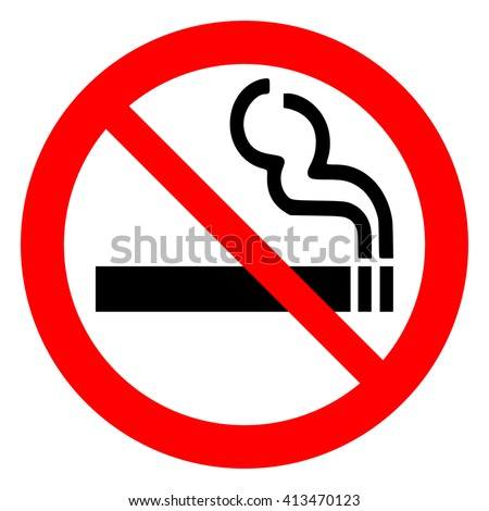 No smoking sign on white background , vector illustration. - stock vector