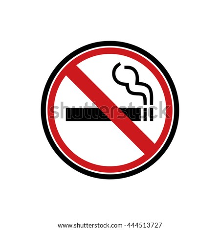 No smoking sign - symbol flat icon for websites and print - stock vector