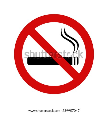 No smoking sign, vector illustration - stock vector