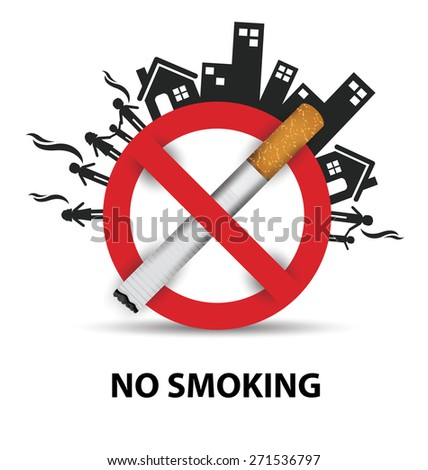 no smoking sign. vector illustration. - stock vector