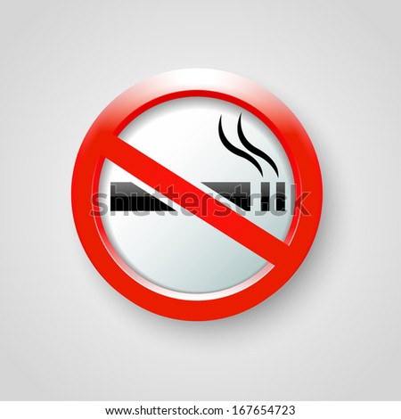 no smoking vector - stock vector