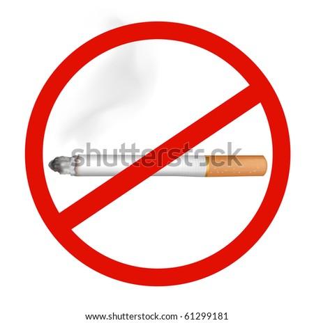 No Smoking. Vector. - stock vector