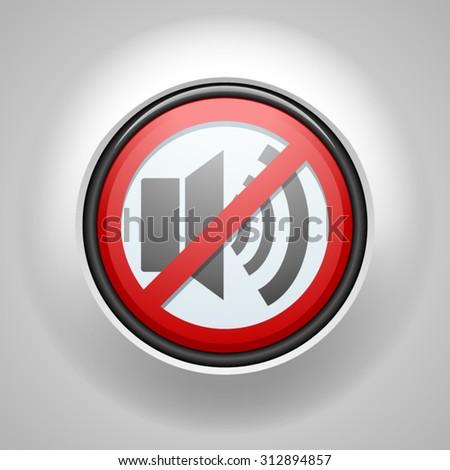 No sound - stock vector