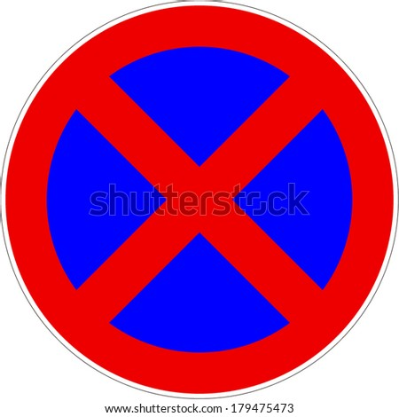 No Stopping ParkingTraffic Sign Vector eps10 - stock vector