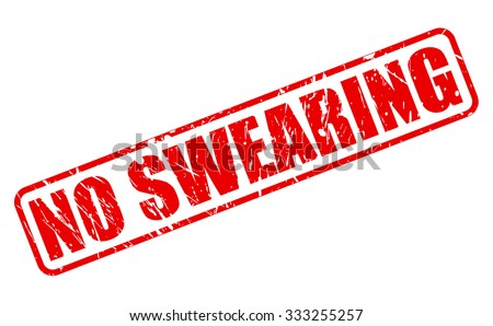 NO SWEARING red stamp text on white - stock vector