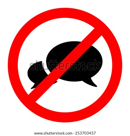 No talk icon great for any use. Vector EPS10. - stock vector