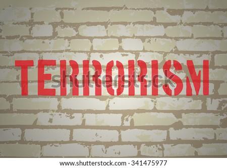 No terrorism concept. Vector illustration - stock vector