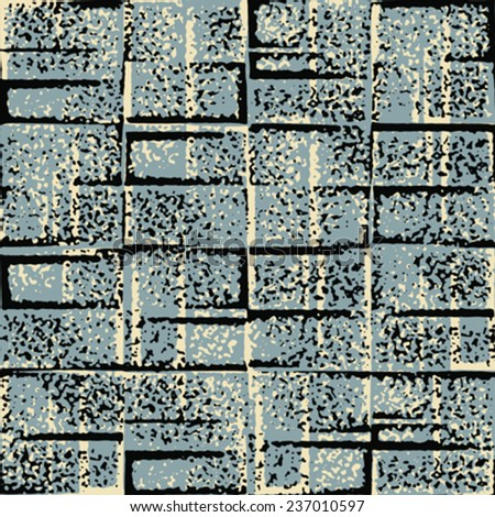 Noisy grungy block background. Seamless pattern. Vector. - stock vector