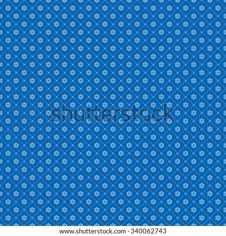 Non editable seamless snowflake background. - stock vector