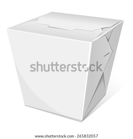 Noodle box. Take away food. Vector illustration - stock vector