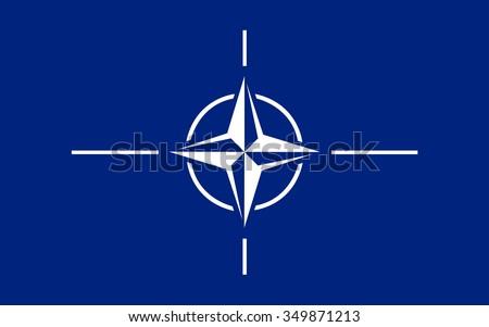 North Atlantic Treaty Organization, NATO Flag  - stock vector
