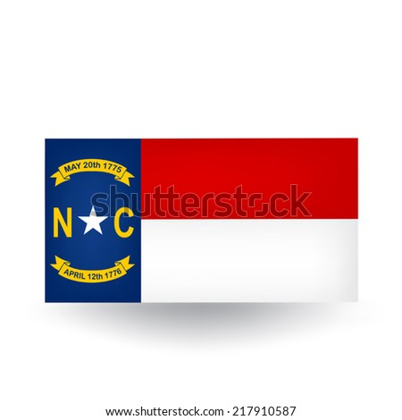 North Carolina Flag - stock vector