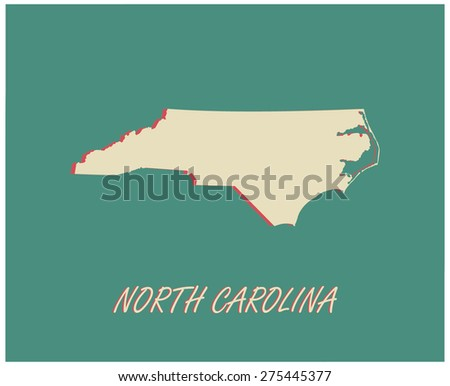 North Carolina State Outline Map North Carolina Map Outlines in