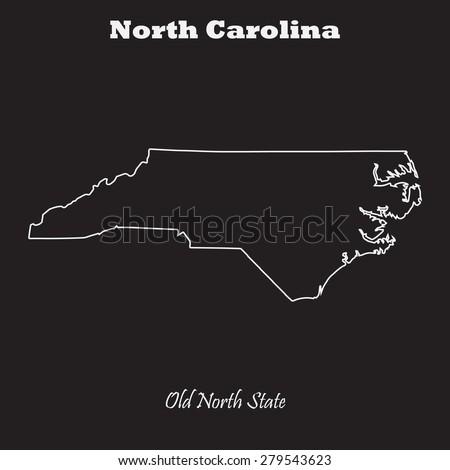 North Carolina State Outline Map North Carolina Outline Map