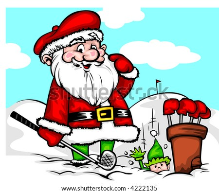 North Pole Golf.. We found the hole! - stock vector