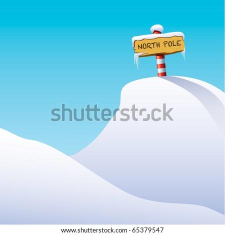 north pole illustration - stock vector