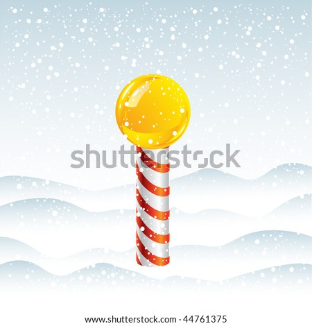 North Pole in Snow - stock vector