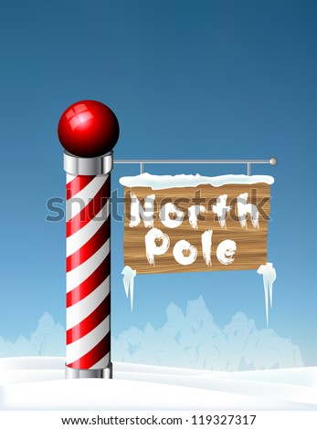 North Pole sign eps10 - stock vector