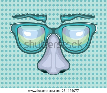 Nose and Glasses - stock vector