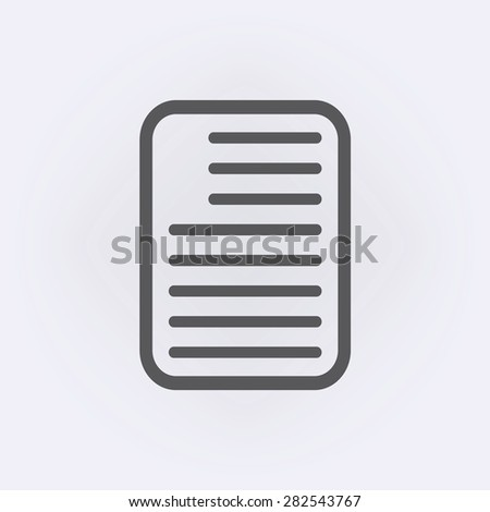 Note paper icon - stock vector
