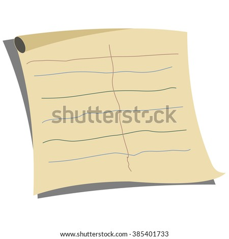 Note Paper text, vector - stock vector