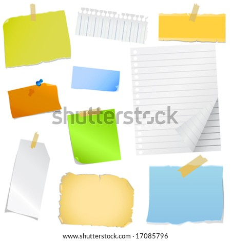 note paper vector - stock vector