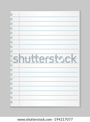Note Paper. vector illustrations - stock vector