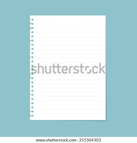 Note paper with line - stock vector