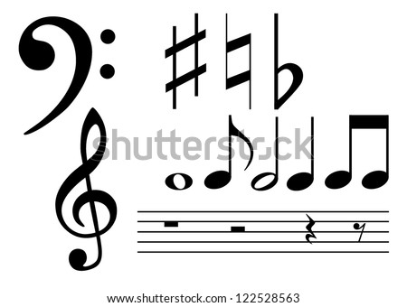 Note set - stock vector