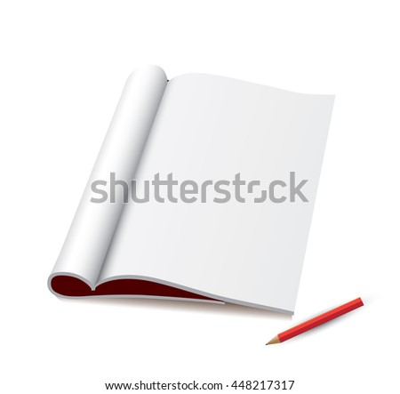 Notebook and pen isolated on white - stock vector