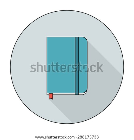 notebook flat icon. vector illustration - stock vector