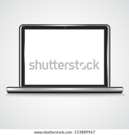 Notebook, Laptop.Vector - stock vector