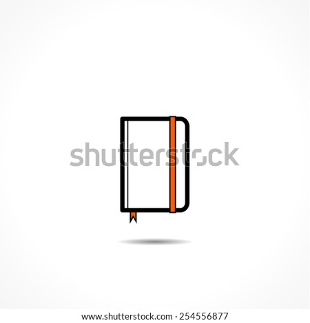 notebook, linear vector icons - stock vector