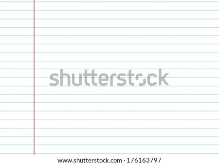 notebook paper background - stock vector