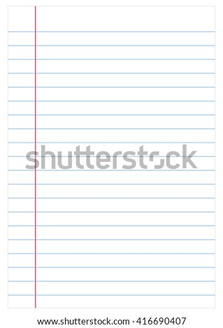 Notebook paper background, vector - stock vector