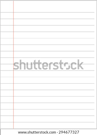 notebook paper paper  - stock vector