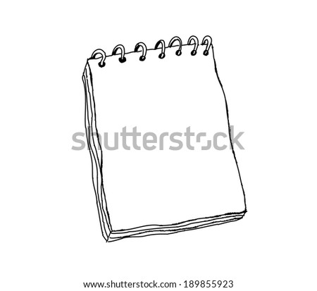 Notebook vector - stock vector