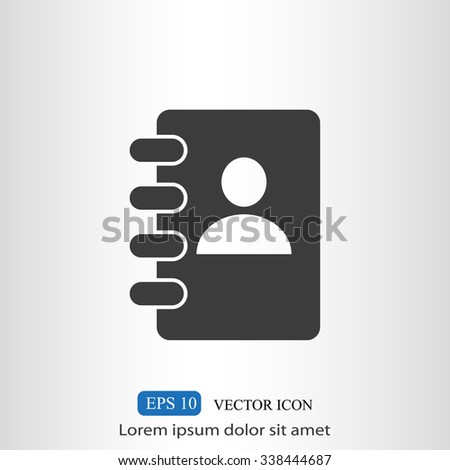 Notebook vector icon - stock vector