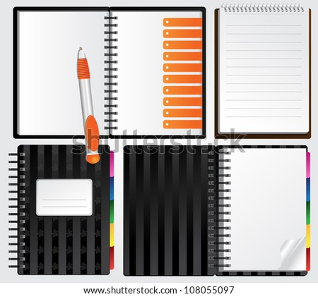 Notebooks for your presentations - stock vector