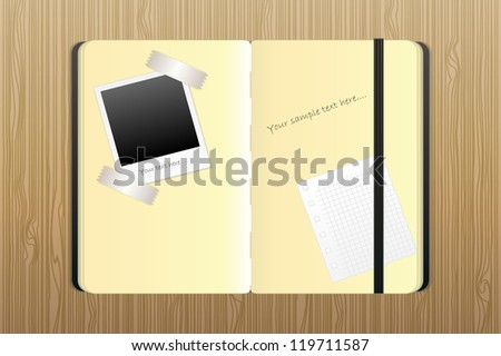 notepad for notes and drawings - stock vector
