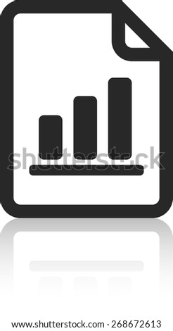 Notepad with Graph - stock vector