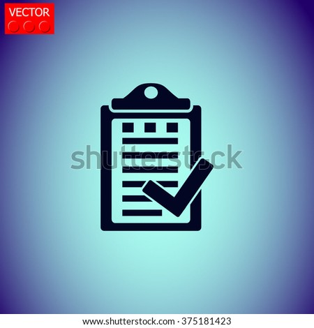 Notes icon.Universal icon to use in web and mobile UI - stock vector