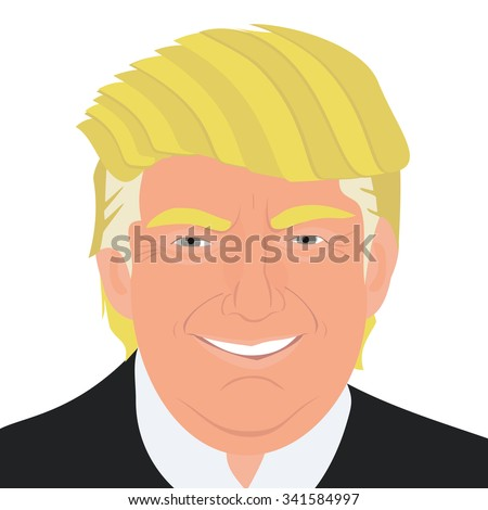 November 20, 2015: A vector illustration of a portrait of Republican Presidential Candidate Donald Trump - stock vector