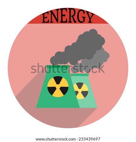 Nuclear power plant icon. Vector illustration - stock vector