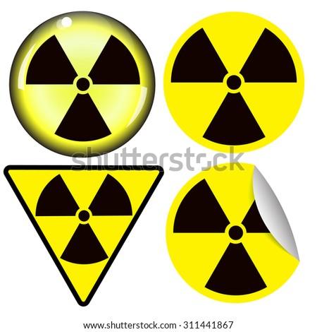 nuclear radiation warning symbol vector - stock vector