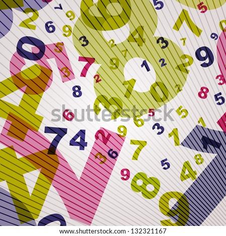Number backgroud - stock vector