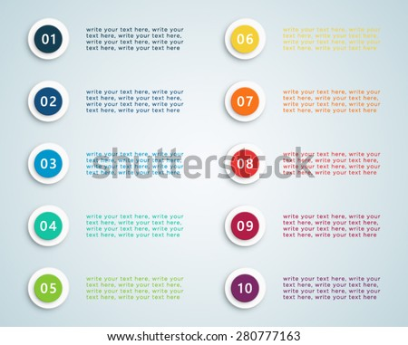 Number Bullet Points Vector 2 - stock vector