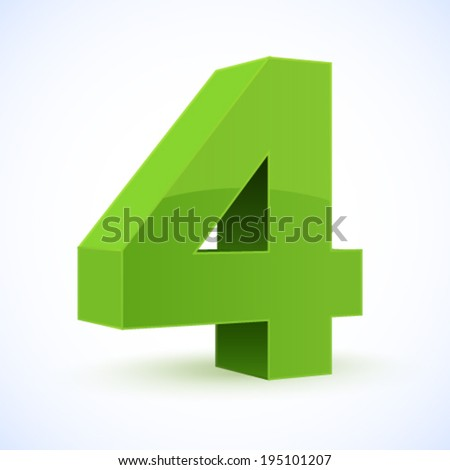 Number 4. Eps 10. - stock vector