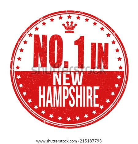 Number one in New Hampshire grunge rubber stamp on white background, vector illustration - stock vector