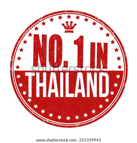 Number one in Thailand grunge rubber stamp on white background, vector illustration - stock vector